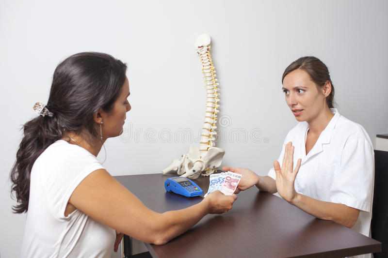 Doctor refusing cash payment