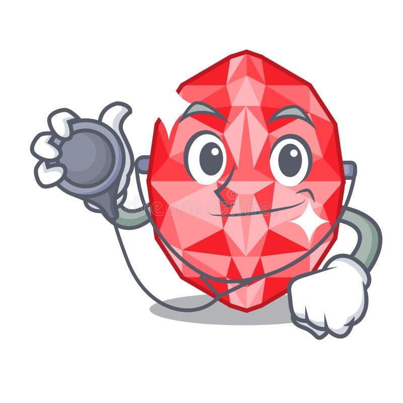 Doctor ruby gems in a cartoon box. Vector illustration vector illustration