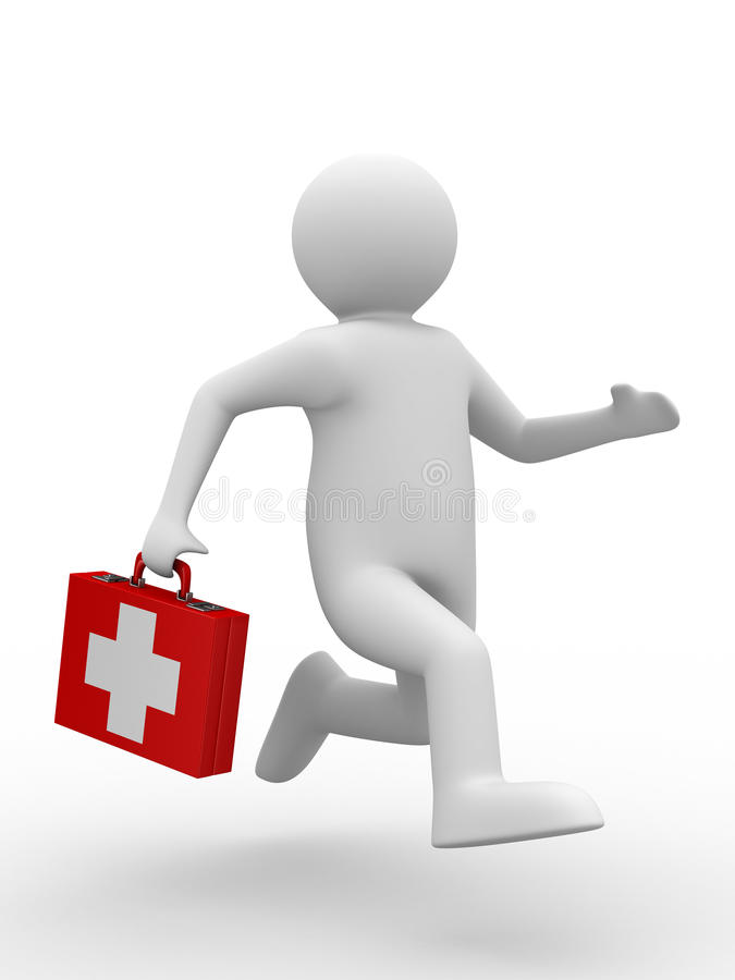 Download Doctor runs to aid stock illustration. Image of people - 13269566