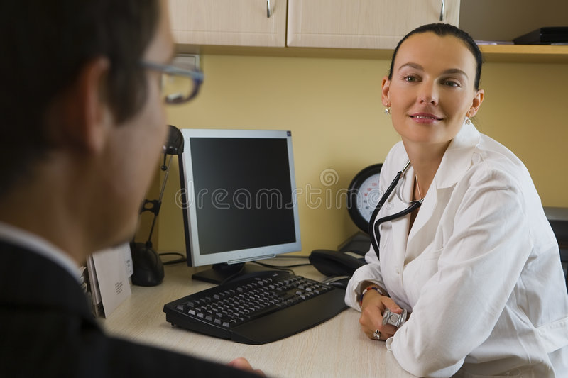 At the Doctor's royalty free stock photography