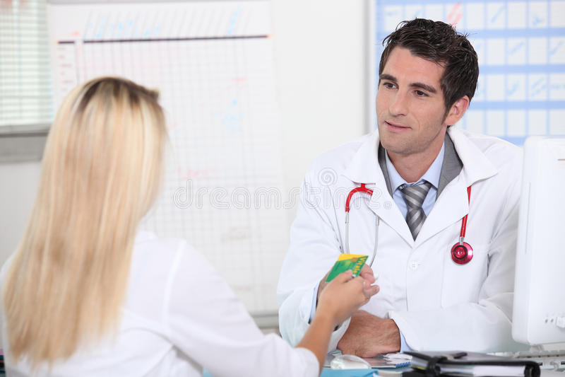Doctor's appointment stock photography