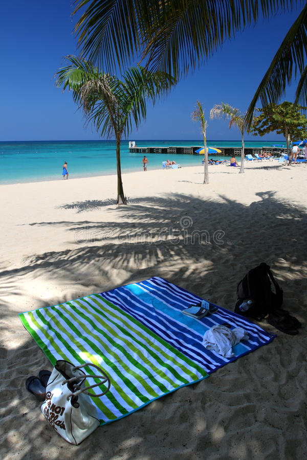 Doctor's Cave Beach Club, Montego Bay, Jamaica stock image