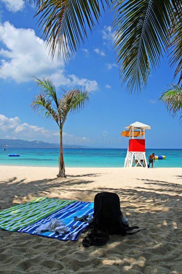 Doctor's Cave Beach Club, Montego Bay, Jamaica royalty free stock photo