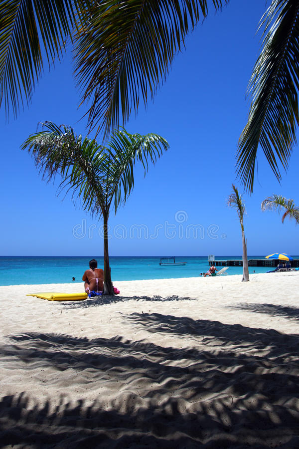 Doctor's Cave Beach Club, Montego Bay, Jamaica royalty free stock image