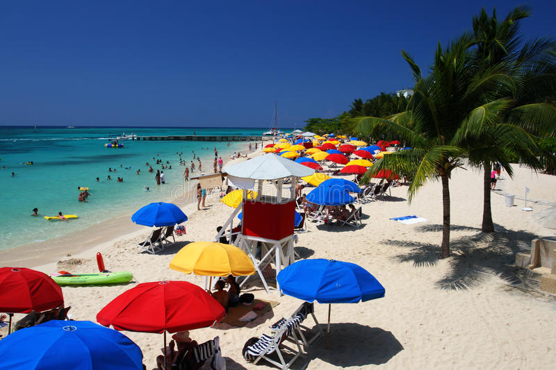 Doctor's Cave Beach, Montego Bay, Jamaica royalty free stock images