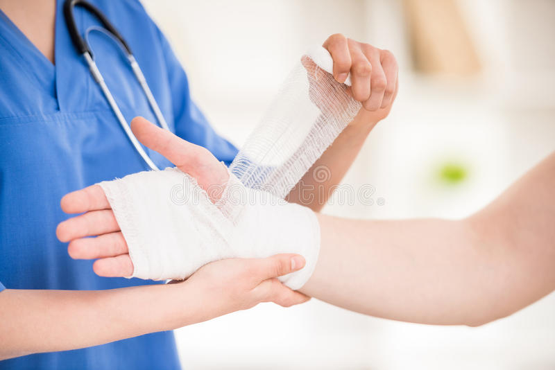At doctor's royalty free stock photo