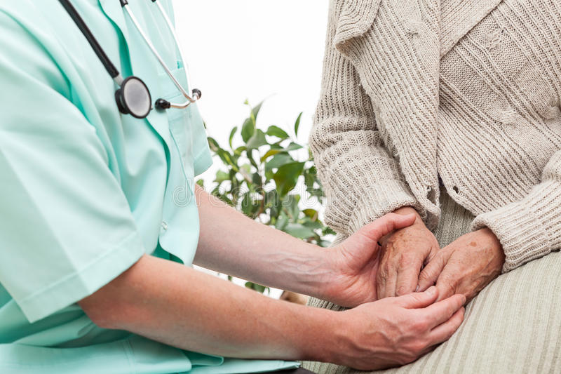 Doctor's help stock photography