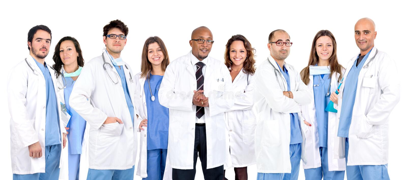 Doctor's team stock image