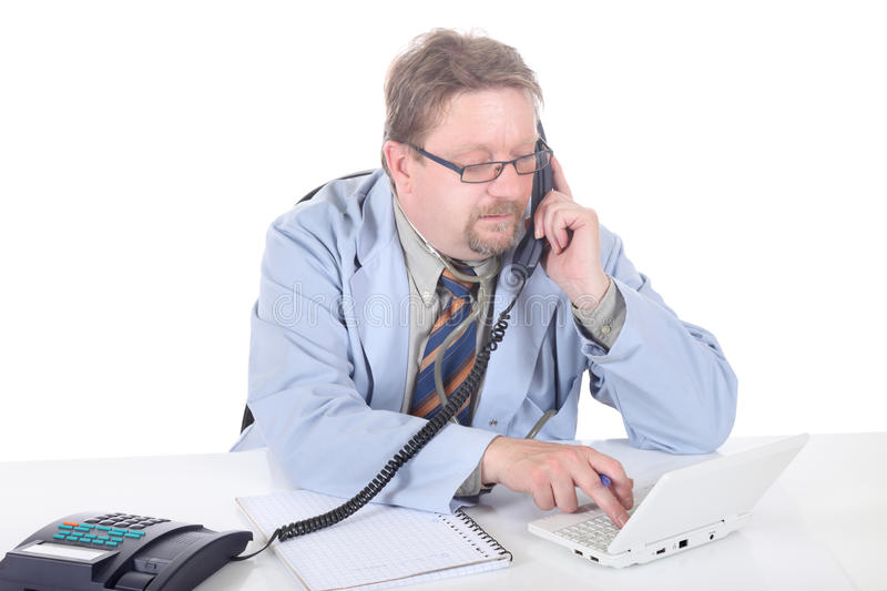 Doctor scheduling appointment royalty free stock photo