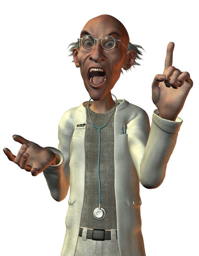 Download Doctor Screaming With Raised Finger Stock Illustration - Illustration: 21194923