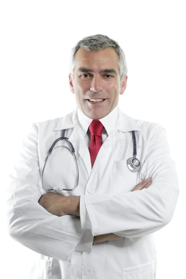 Download Doctor Senior Expertise Gray Hair On White Stock Photo - Image of friendly, male: 15010712