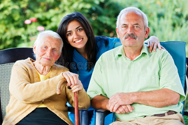 Doctor and Seniors royalty free stock photo