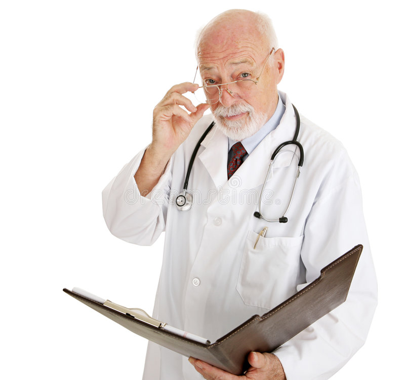 Doctor - serio sobre su salud fotografía de archivo libre de regalías