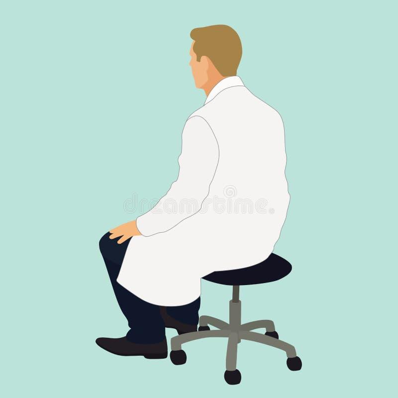 Free Doctor Sitting On Stool Stock Photos - 156809103