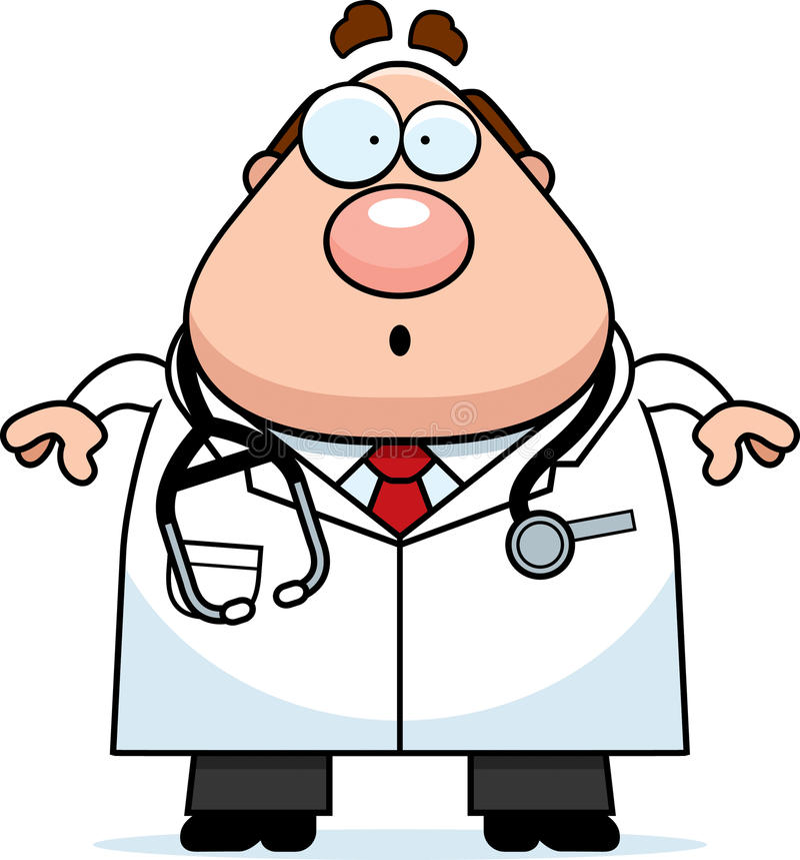 Doctor sorprendido de la historieta libre illustration