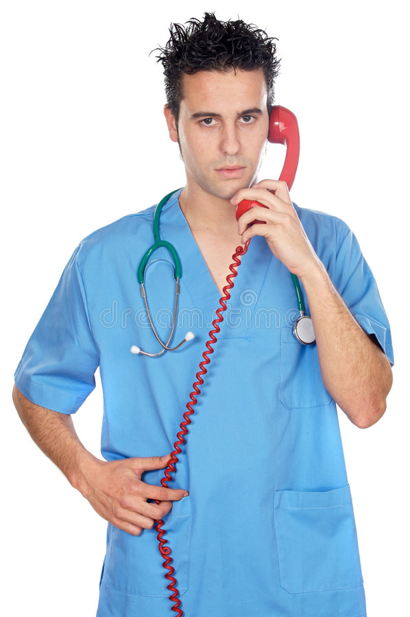Download Doctor Speaking On The Phone Royalty Free Stock Photography - Image: 2587627