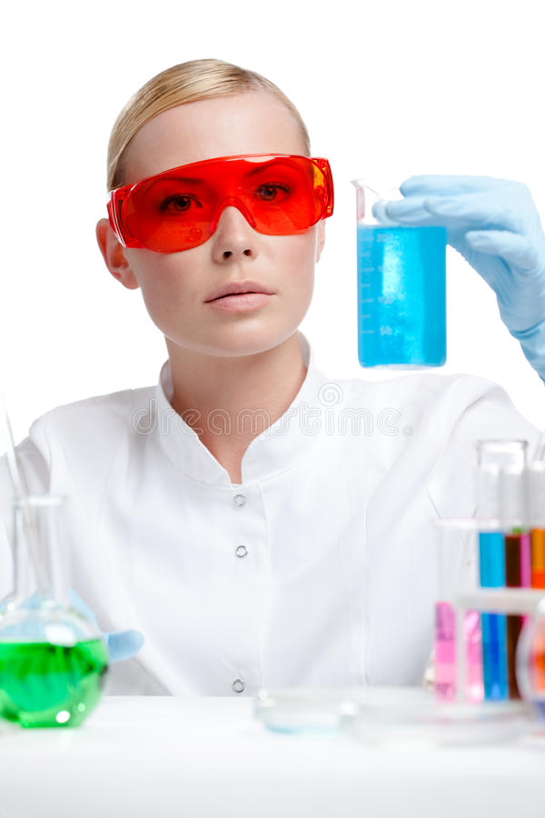 Download Doctor In Spectacles Does Some Experiments Stock Photo - Image: 27746846