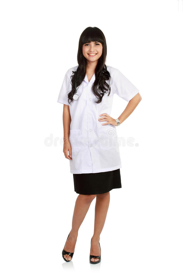 Doctor standing isolated. stock photos