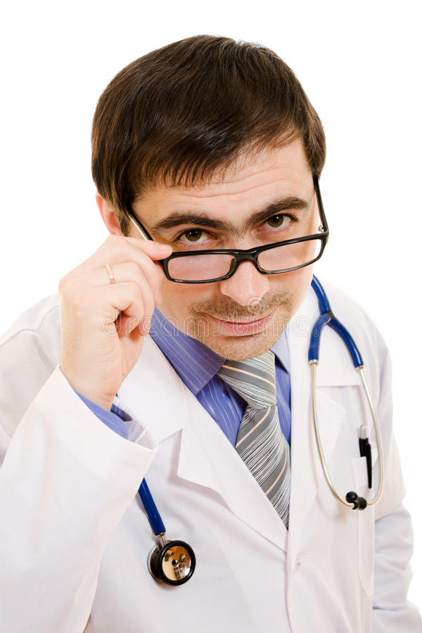 A Doctor With A Stethoscope And Glasses Royalty Free Stock Photography