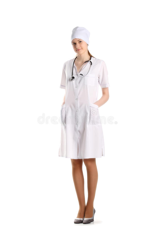 Download Doctor With Stethoscope Posing Over The White Stock Image - Image: 19476281