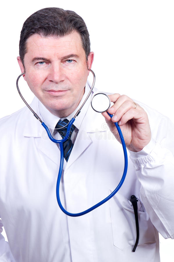 Download Doctor with stetoscope stock photo. Image of medical - 17974690