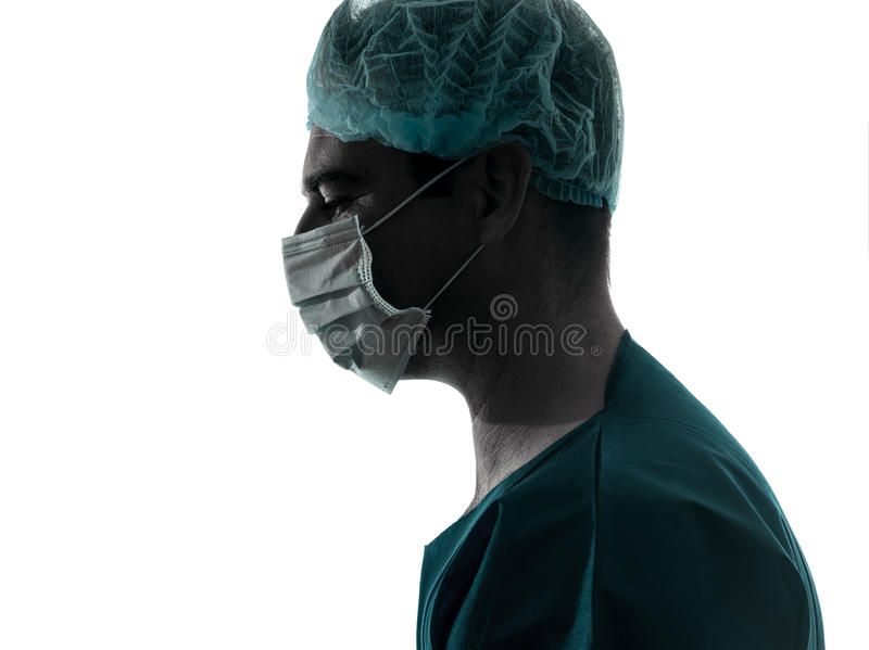 Download Doctor Surgeon Man Profile Mask Silhouette Stock Photo - Image of adult, adults: 27885040