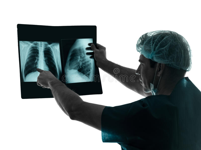 Doctor surgeon radiologist x-ray image stock images