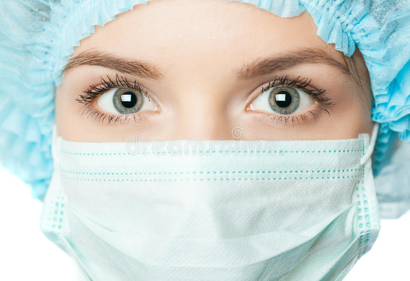 Doctor with surgical mask stock images