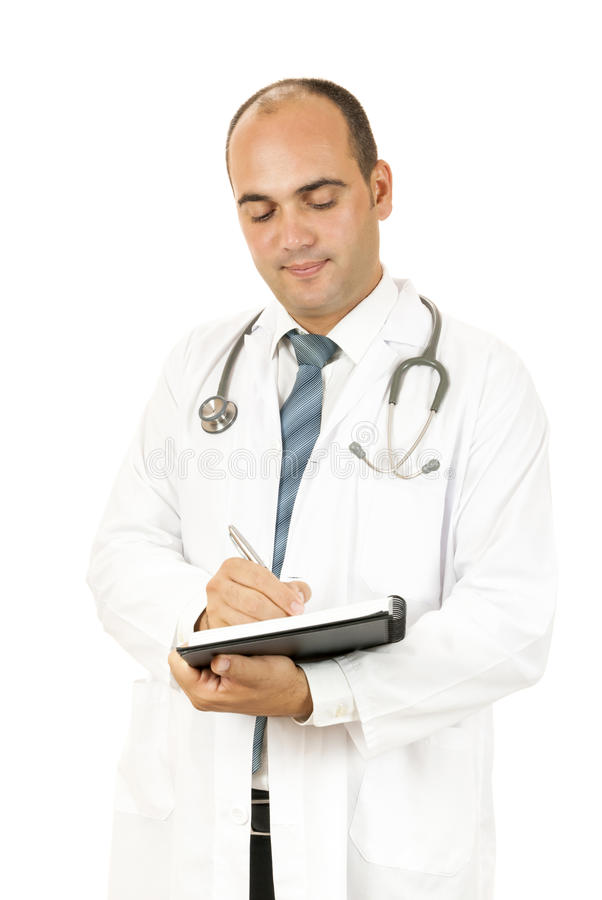 Doctor taking notes royalty free stock photography