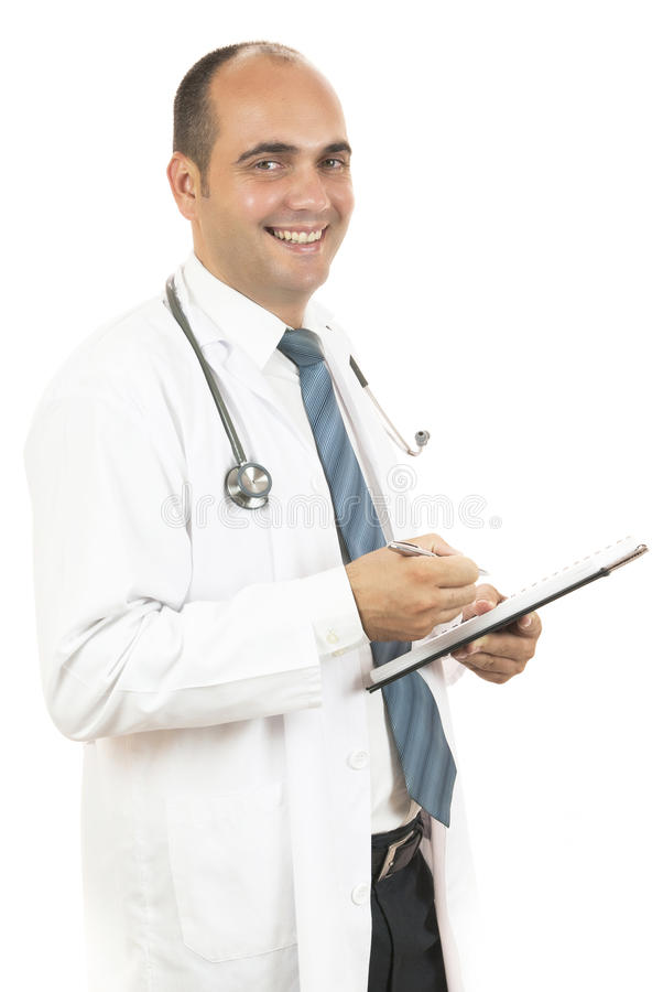 Doctor taking notes stock images