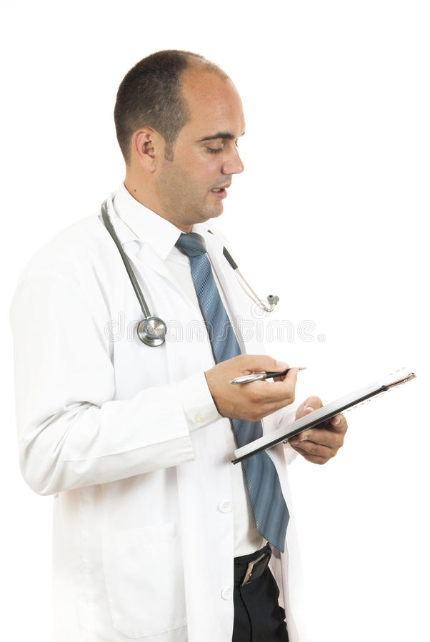Doctor taking notes royalty free stock images