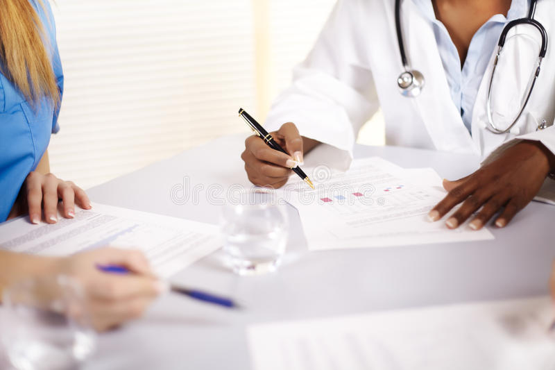 Download Doctor Talking On A Meeting Stock Image - Image: 22238691