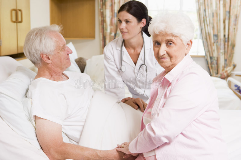 Download Doctor Talking To Senior Couple Stock Image - Image: 6427583