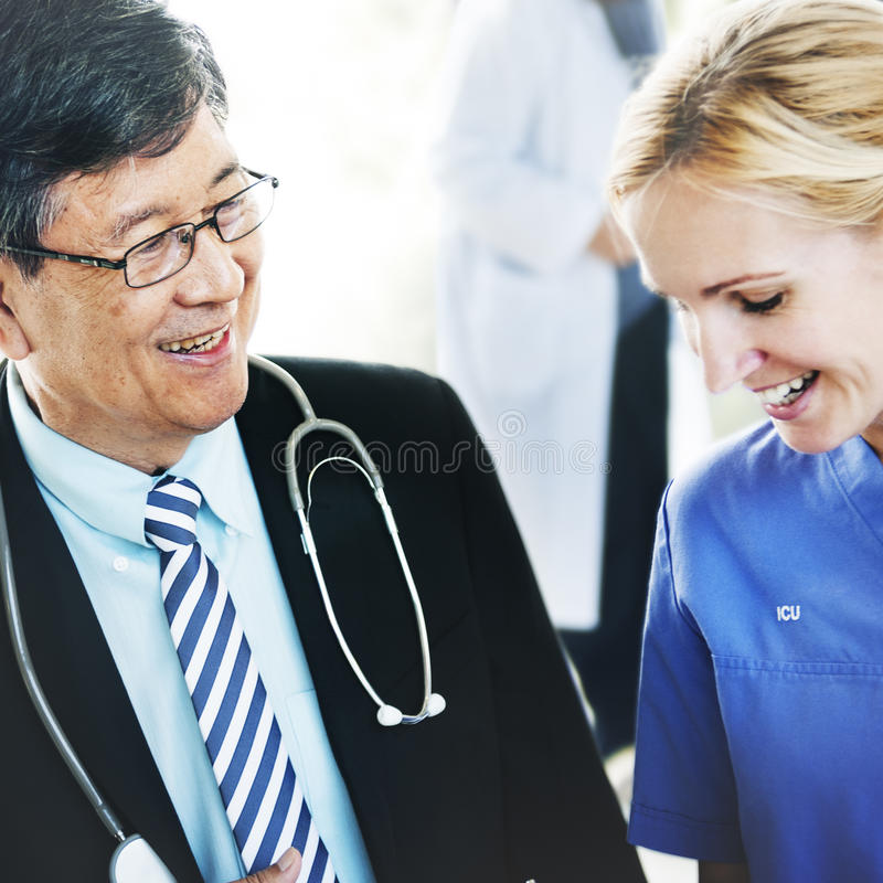 Doctor Team Diagnosis Operation Medication Concept royalty free stock photography