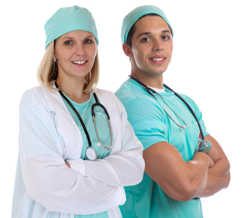 Doctor team young doctors occupation job isolated stock image