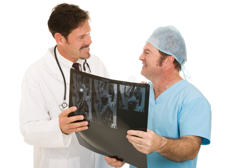 Doctor Thanks Radiologist stock photography