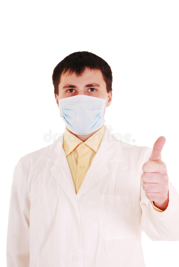 Doctor with thumb up. royalty free stock image