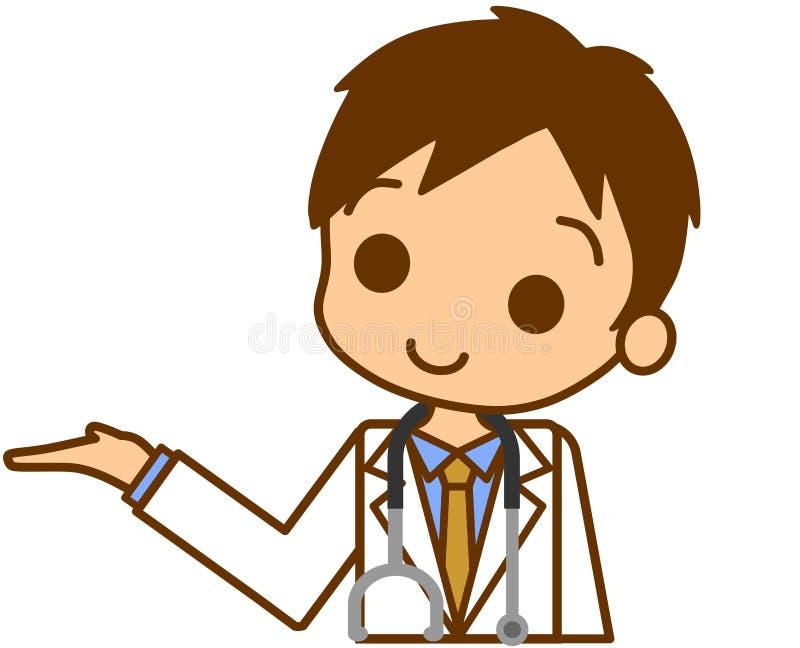 Download Doctor to guide stock illustration. Image of description - 22461777