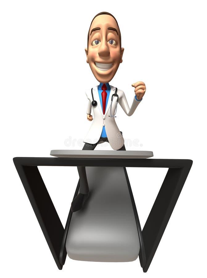 Download Doctor on a treadmill stock illustration. Illustration of jogging - 5338447
