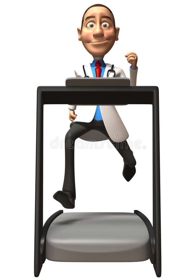 Doctor On A Treadmill Stock Image