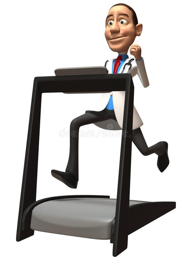 Doctor On A Treadmill Stock Photos