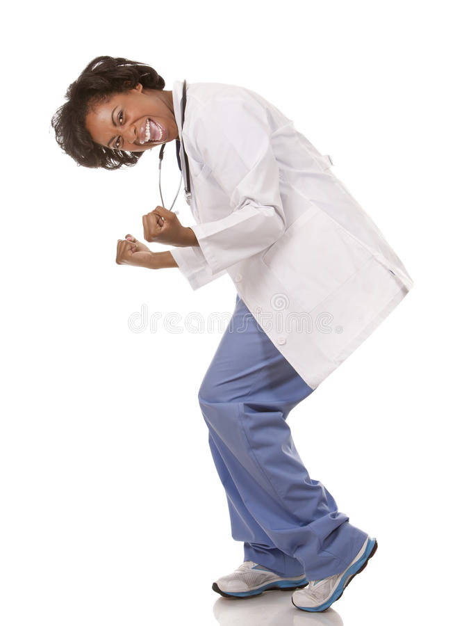 Doctor very excited royalty free stock images
