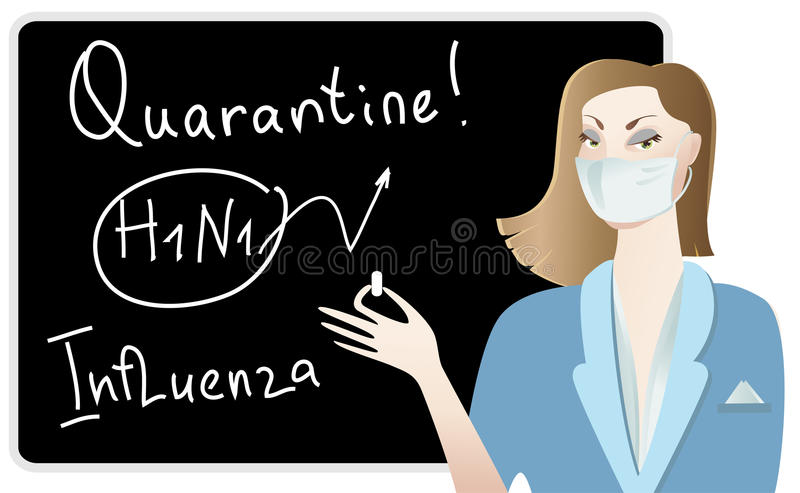 Doctor warns about influenza vector illustration