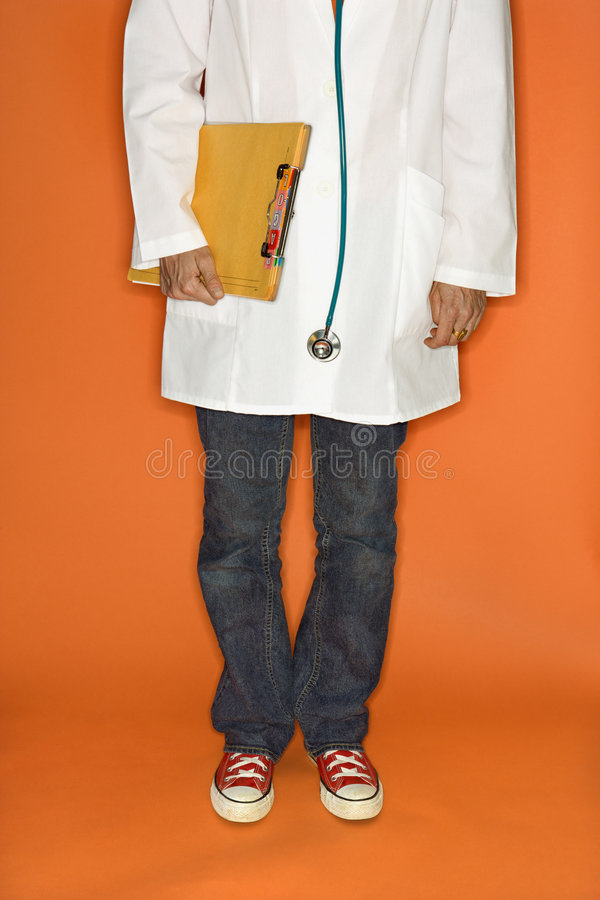 Download Doctor Wearing Jeans And Sneakers. Stock Image - Image: 2037809