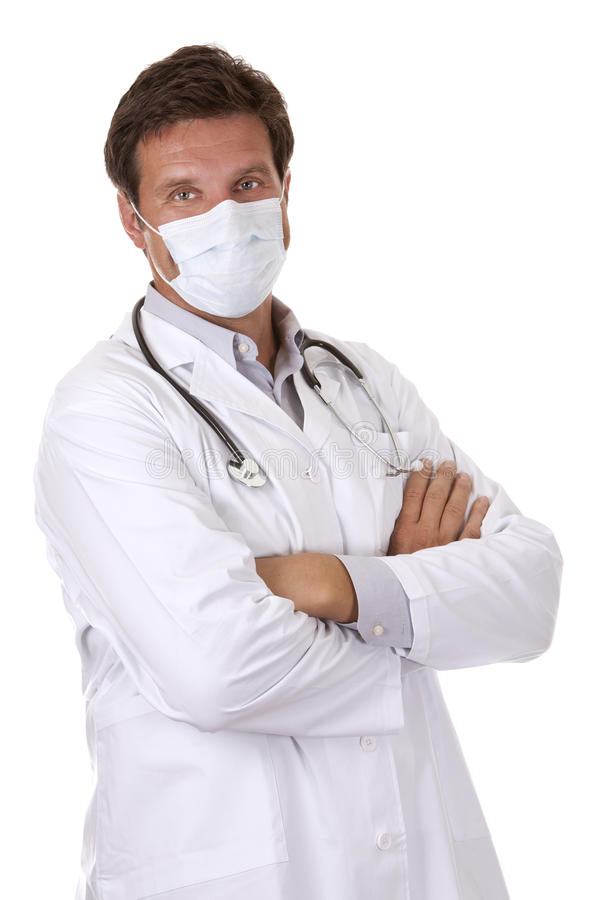 Doctor Wearing A Mask Stock Photo