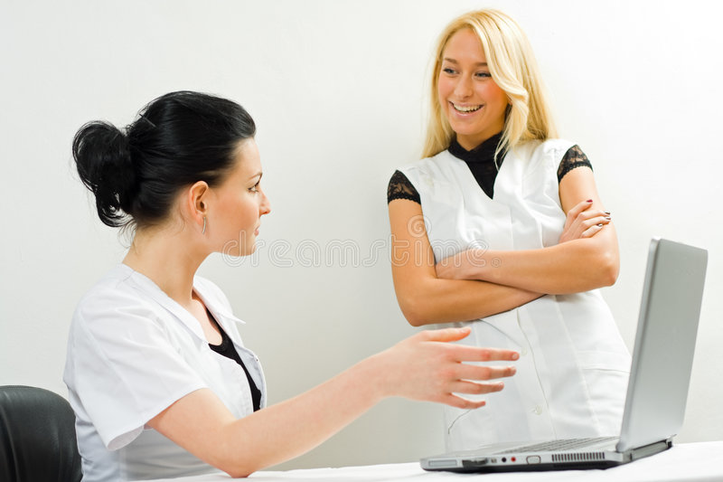 Download Doctor whit a laptop stock photo. Image of happy, doctor - 8259596