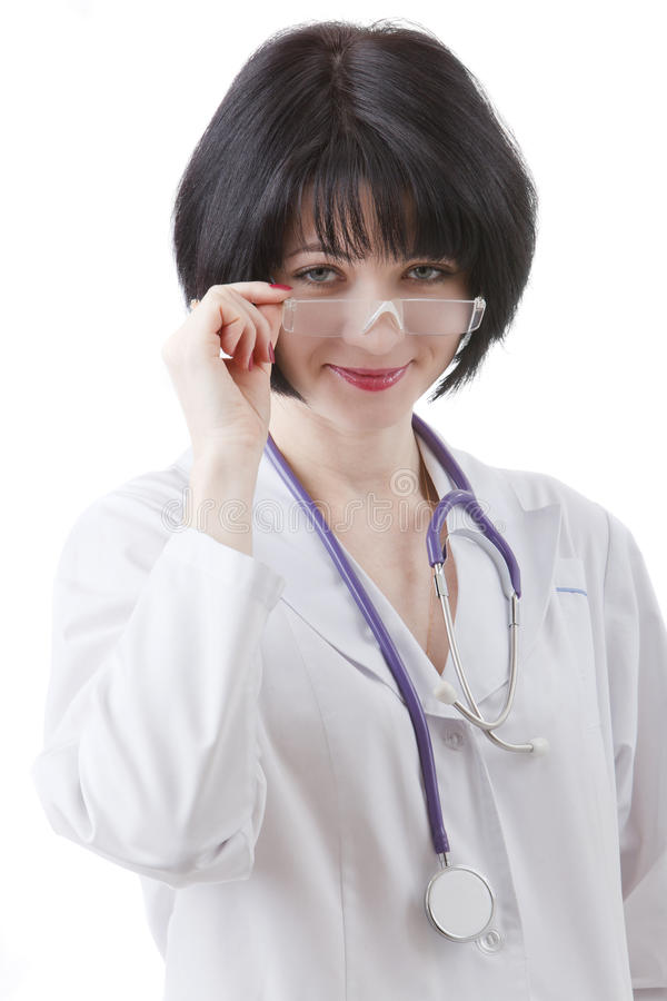 Doctor On A White Stock Photography
