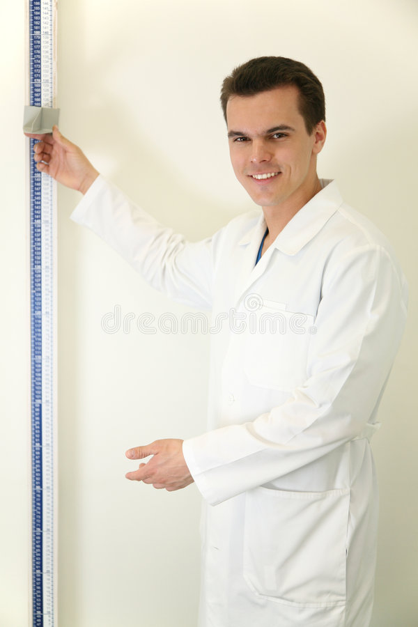 Free Doctor With Stadiometer Stock Images - 2229134