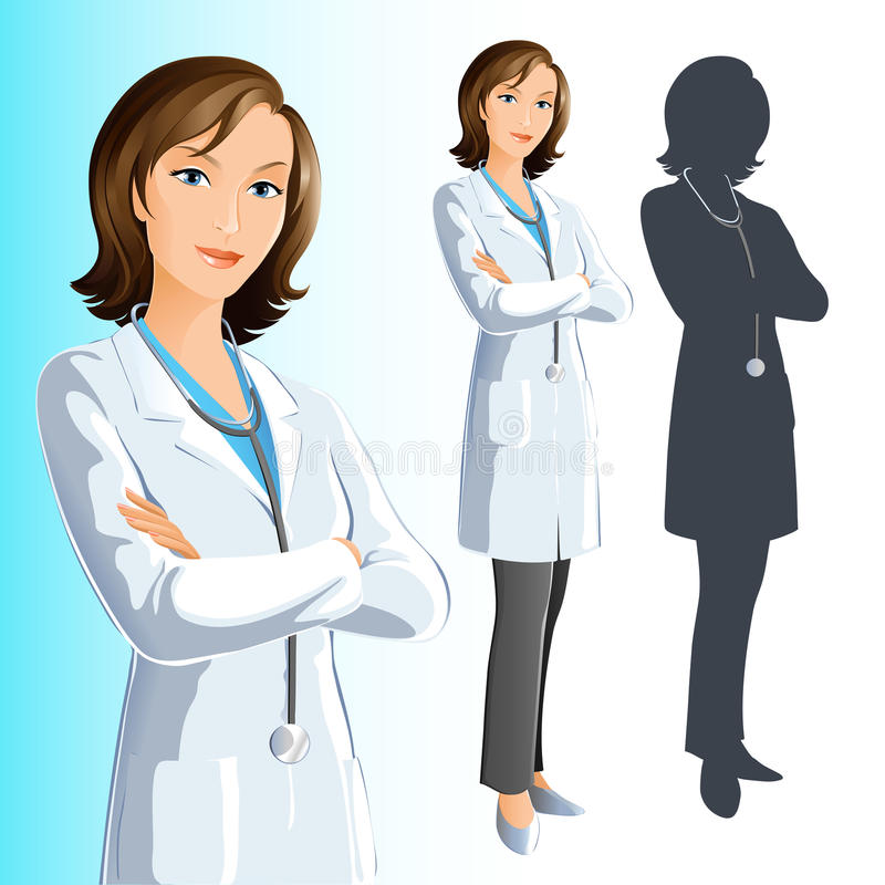Doctor (woman) royalty free illustration