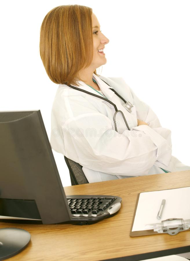 Doctor Woman Laughing Free Stock Photos